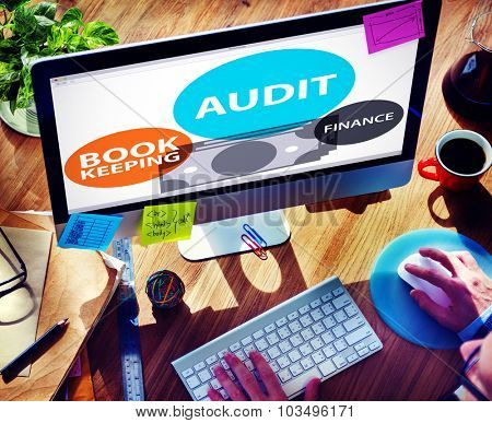 Audit Bookkeeping Finance Money Report Concept