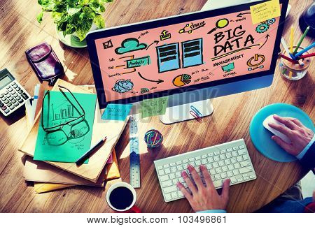 Big Data Storage Online Technology Database Concept