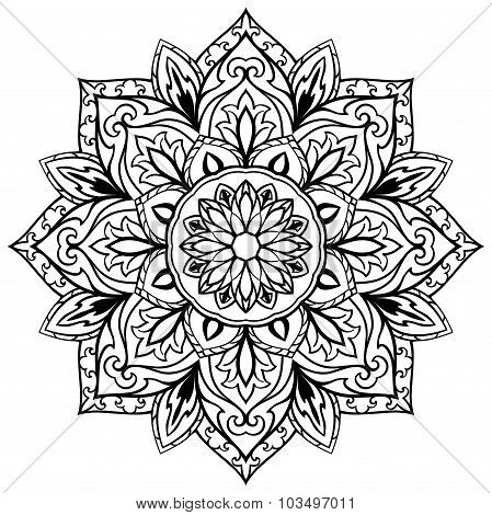 Vector Flower Mandala.