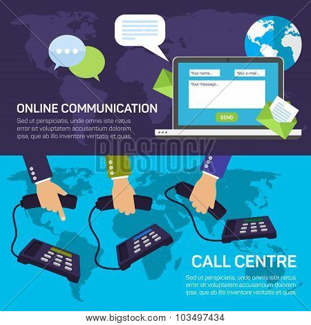 Technical support call center and service online communications