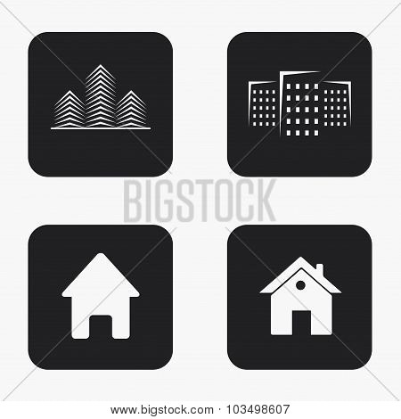 Vector modern real estate  icons set