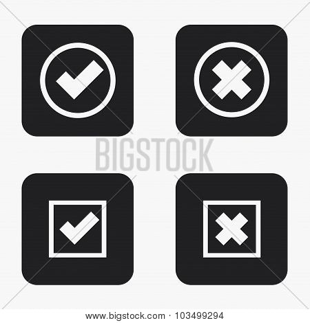 Vector modern vote  icons set