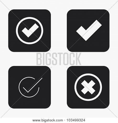 Vector modern vote  icons set
