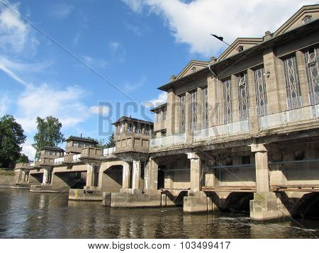 Hydroelectric Power Station On River Labe In Podebrady, Czech Republic