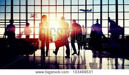 International Airport Business Travel Trip Concept