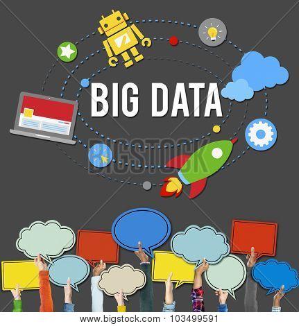 Big Data Database Storage Analysis Security Concept