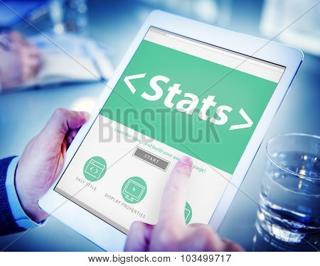 Digital Online Stats Data Analysis Analytics Browsing Concept