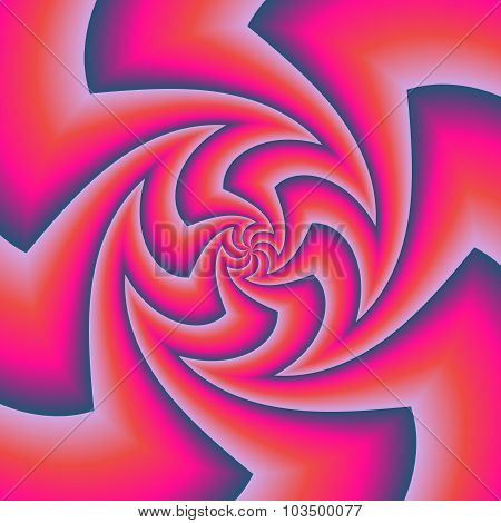 Zigzag Whirlpool Optical Illusion In Muted Colors