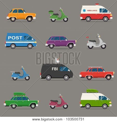 Transportation and Automotive Symbol Vector
