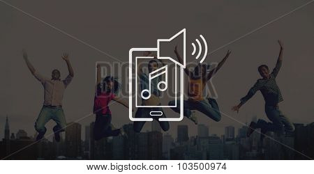 Music Listening Playing Media Technology Concept