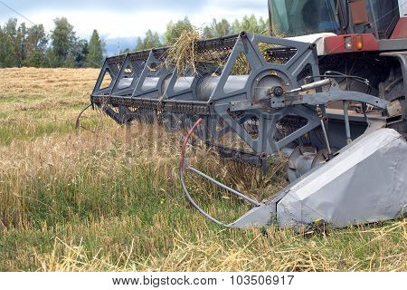 Agriculture machine on a field