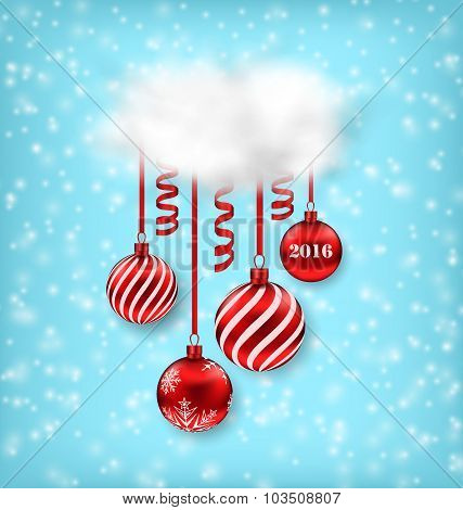 Christmas Luxury Background with Balls