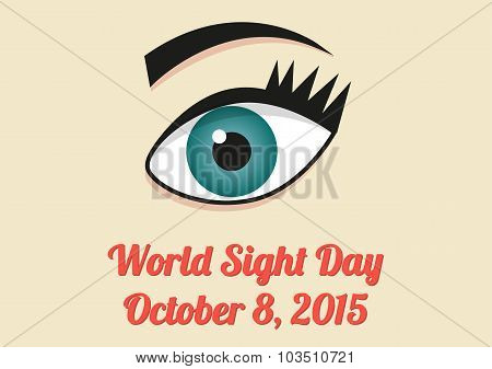 Banner For World Sight Day - 8Th October 2015