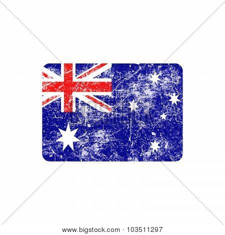 Illustration Vector Grunge Stamp Flag Of Australia Country.