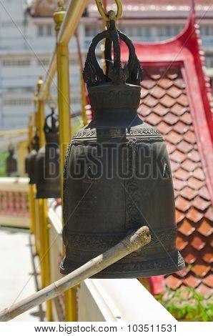 Series of bells in Thai temple