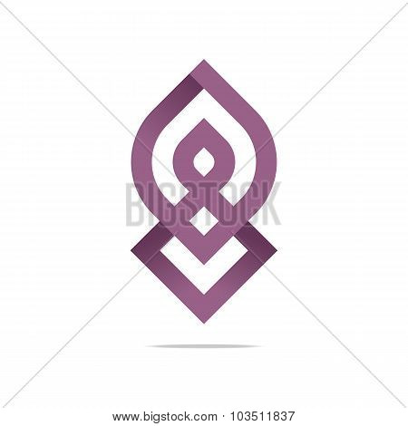 Logo abstract symbol element vector