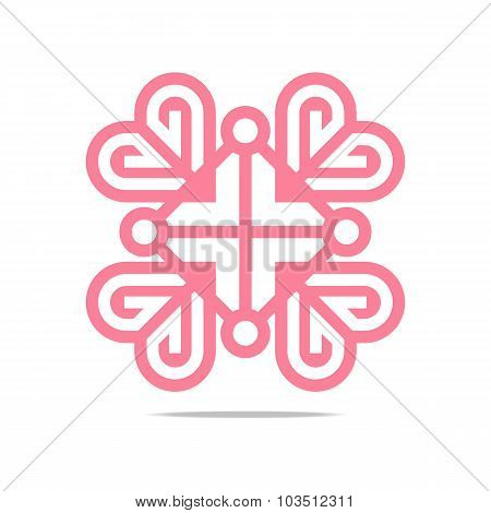 Logo love letter couple heart  design vector