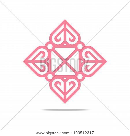 Logo Love letter couple design vector