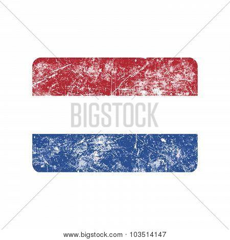 Illustration Vector Grunge Stamp Flag Of Netherlands Country.
