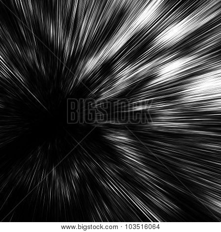 Abstract Digital Image With Fast Motion Blur Effect