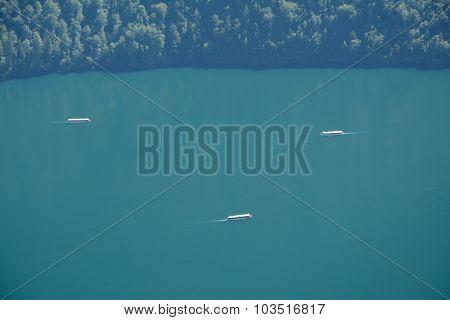 Boats On Lake Nearby Schonau Am Konigssee, Germany