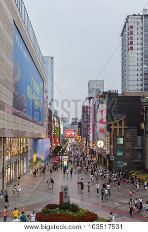 Chunxi Road In Chengdu, China