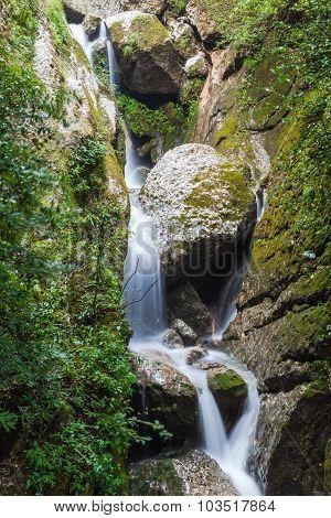 Waterfall In Qingcheng Back Mountain