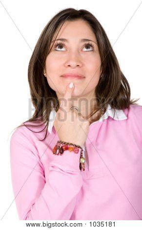 Casual Pensive Woman