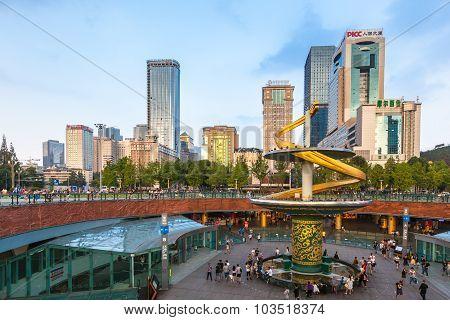 Tianfu Square Of Chengdu, China