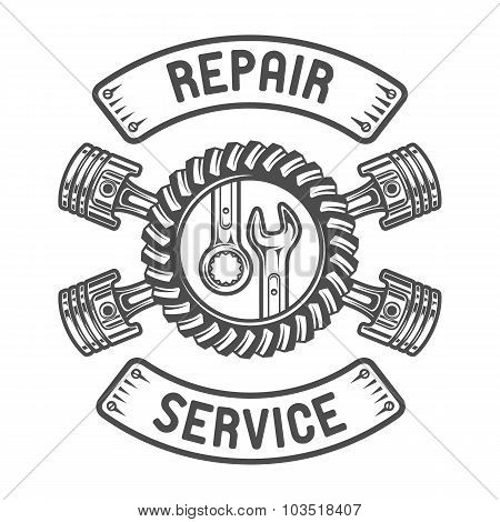 Repair Service. Wrenches, pistons.