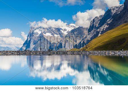 Wetterhorn With Reflection