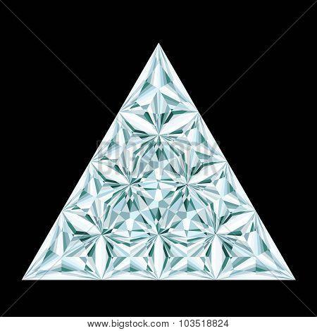Diamond Triangle On Black Background