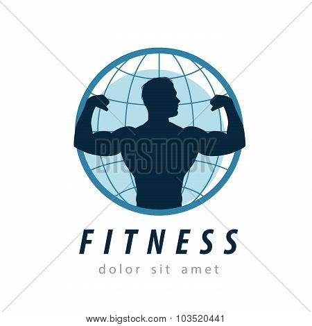 gym vector logo design template. fitness or sport icon