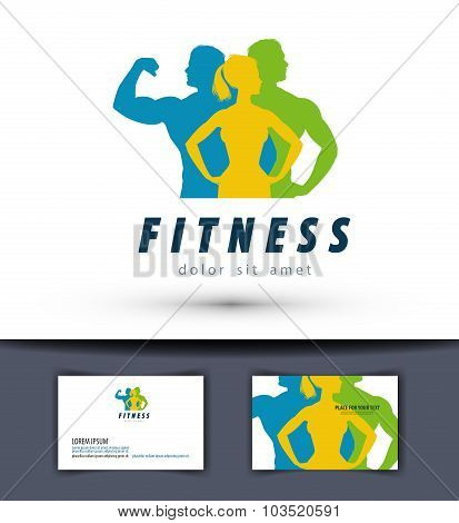 gym vector logo design template. fitness or sports icon