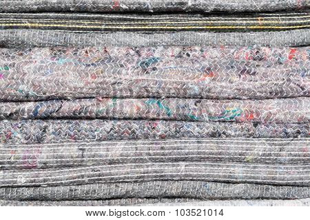 Background Texture From A Pile Of Grey Blankets