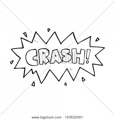 simple black and white line drawing cartoon  comic book crash symbol