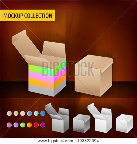 Mockup box template for branding and product designs