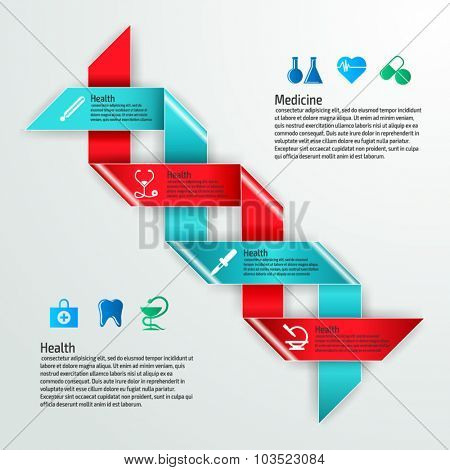 Vector colorful medicine infographics for your business presentations. Can be used for info graphics, graphic or website layout vector, numbered banners, diagram, web design.