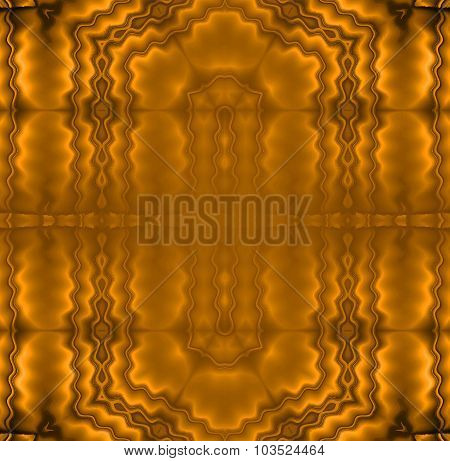 Seamless wavy pattern golden brown metallic