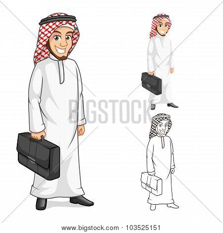 Middle Eastern Businessman Holding a Briefcase