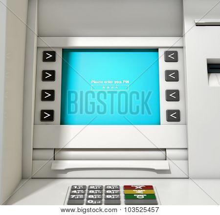 Atm Screen Enter Pin Code