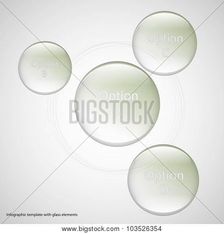 Four Glass Rings Template With Light Background