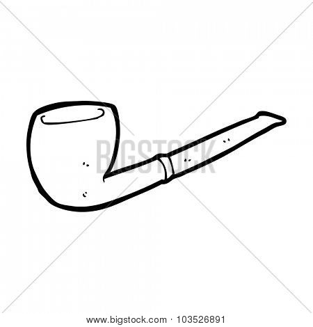 simple black and white line drawing cartoon  pipe