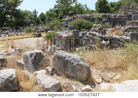 Priene ruins of an ancient antique city