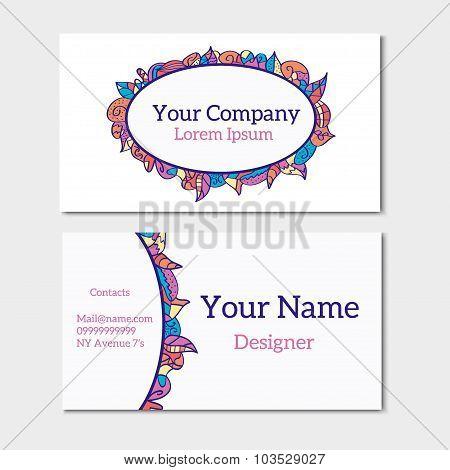 Floral Summer Business Card