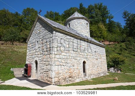 Monastery Near The Tara Canyon. Zabljak, Montenegro.