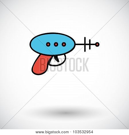 Gun toy icon.