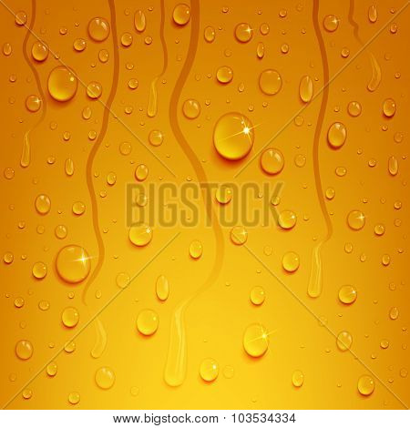 Beer Background With Water Drops