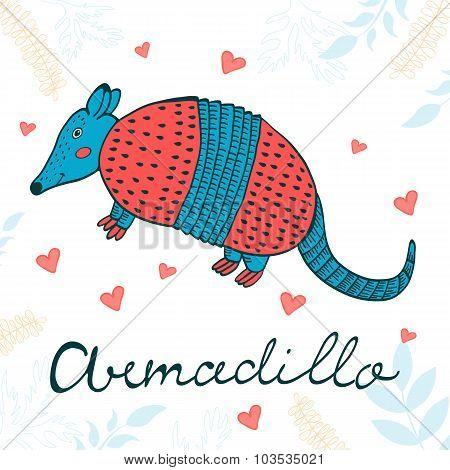 Cute armadillo character