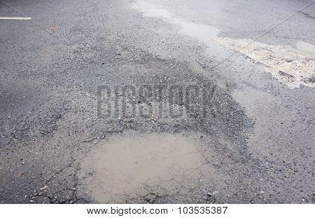Road damage from flood